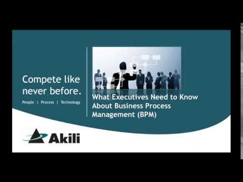What Executives Need to Know About Business Process Management
