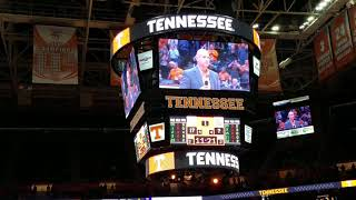 Jeremy Pruitt introduced at UT basketball game