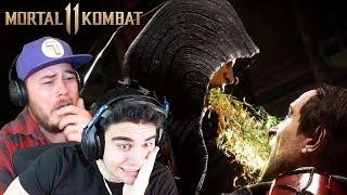 D'VORAH'S FATALITY MADE SAM LEAVE HIS ROOM!!! - Mortal Kombat 11 All Fatalities Reaction (Part 2)