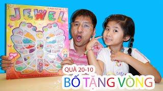 Vẽ Hoa Tặng Bà 20-10  - Lòng Hiếu Thảo | Bố Tặng Quà Cho Bé Bún