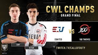 eUnited vs 100 Thieves | CWL Champs 2019 | Day 5