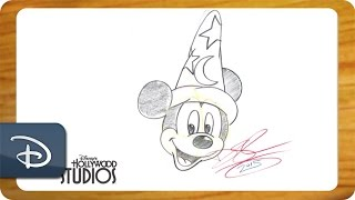 How-To Draw Sorcerer Mickey From HD