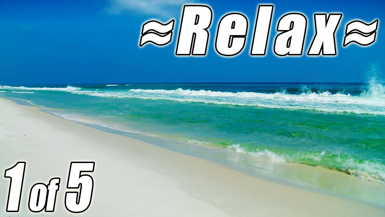 #1 Relaxing FLORIDA BEACHES w/ Ocean Sounds Panama City ...