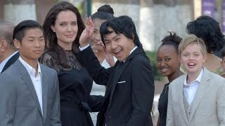 Angelina Jolie and Her Children Make First Public Appearance Since Split from Brad Pitt