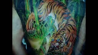 Xam hinh, tattoo, TIGER full back, hinh xam tattoo.wmv