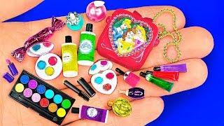 18 DIY Miniature Barbie Cosmetics ~ Lipstick, Eyeshadow palette, Mascara, Makeup kit and more!