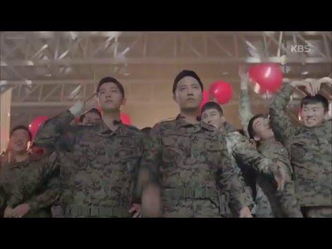 [태양의 후예] - 송중기-진구, 레드벨벳 등장에 부대원들과 '떼창'