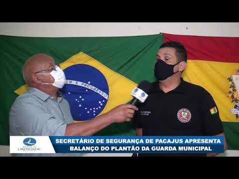 SECRETÁRIO DE SEGURANÇA DE PACAJUS APRESENTA BALANÇO DO PLANTÃO DA GUARDA MUNICIPAL