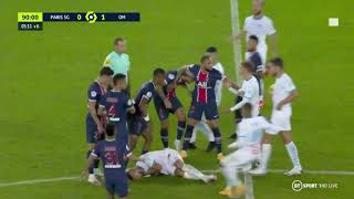 5 red cards after Racism fight between Neyman from PSG and Marseille players.