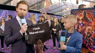 Kid Movie Expert Britton Walker Goes to the 'Avengers: Infinity War' Premiere