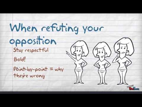 Argumentative essay counter-argument refutation