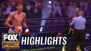Sebastian Fundora hands Nathaniel Gallimore first career KO in sixth round | HIGHLIGHTS | PBC ON FOX