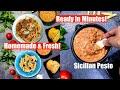 Ready in Minutes! Fresh Sicilian Pesto Pasta Sauce/Dip for Bread Pizza Video Recipe Bhavnas Kitchen