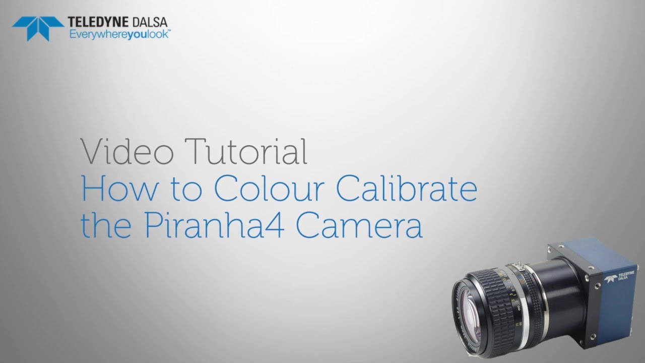 Teledyne DALSA video tutorial: How to colour calibrate the Piranha4 machine vision line scan camera