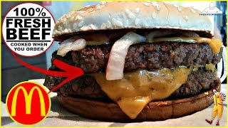 McDonald's® | Double Quarter Pounder with Cheese Review! | 100% FRESH BEEF
