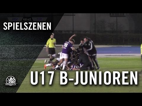 Hertha BSC - Tennis Borussia Berlin (U17 B-Junioren, Viertelfinale, Pokal der B-Junioren 2016/2017) - Spielszenen | SPREEKICK.TV