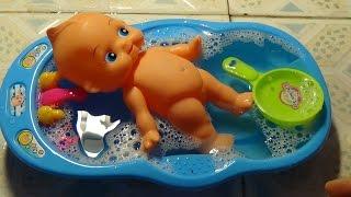 Baby Doll Bathtime How to Bath a Baby Toy Videos Tắm cho em bé búp bê đồ chơi trẻ em Kid Studio