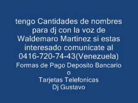 Venta de Voces Waldemaro Martinez 2013