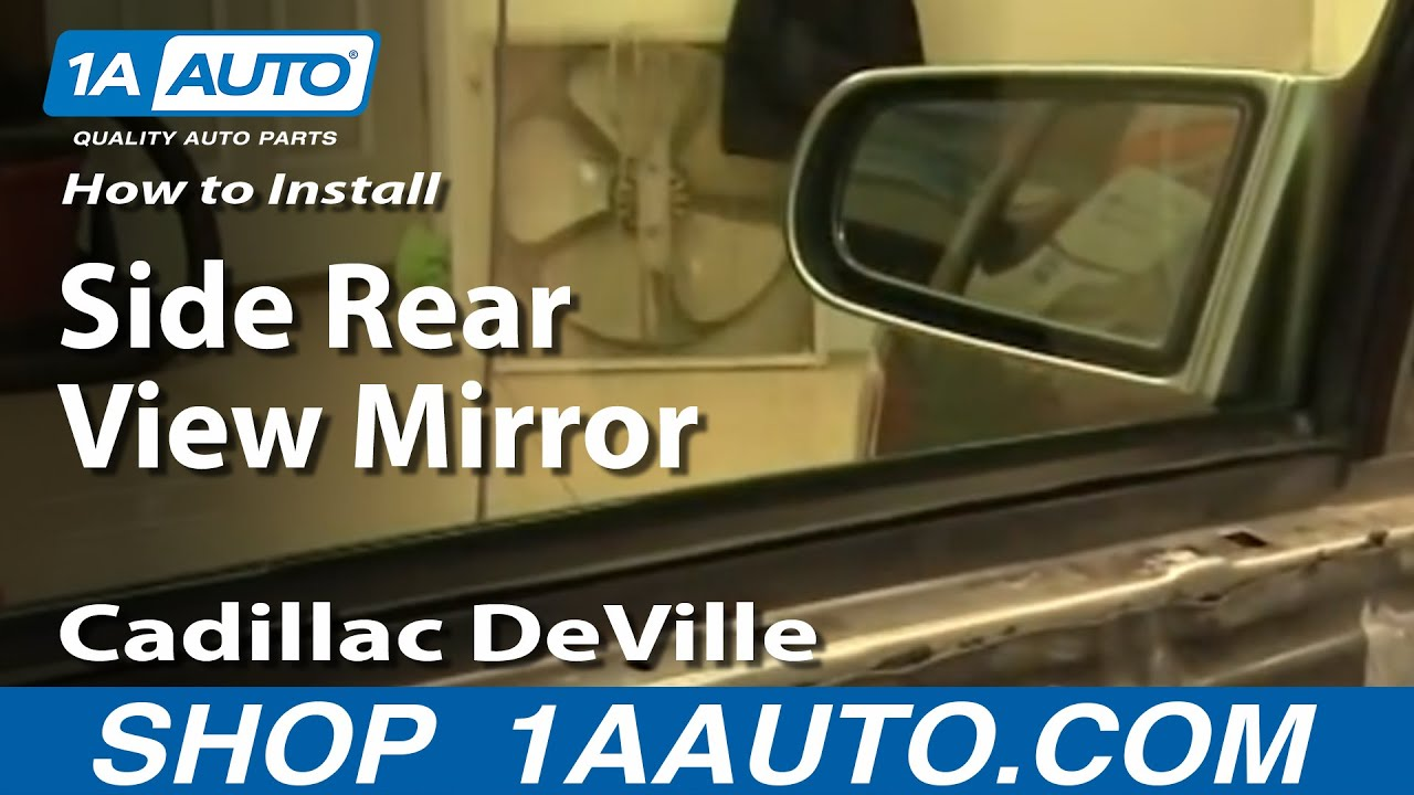 How To Install Replace Side Rear View Mirror Cadillac