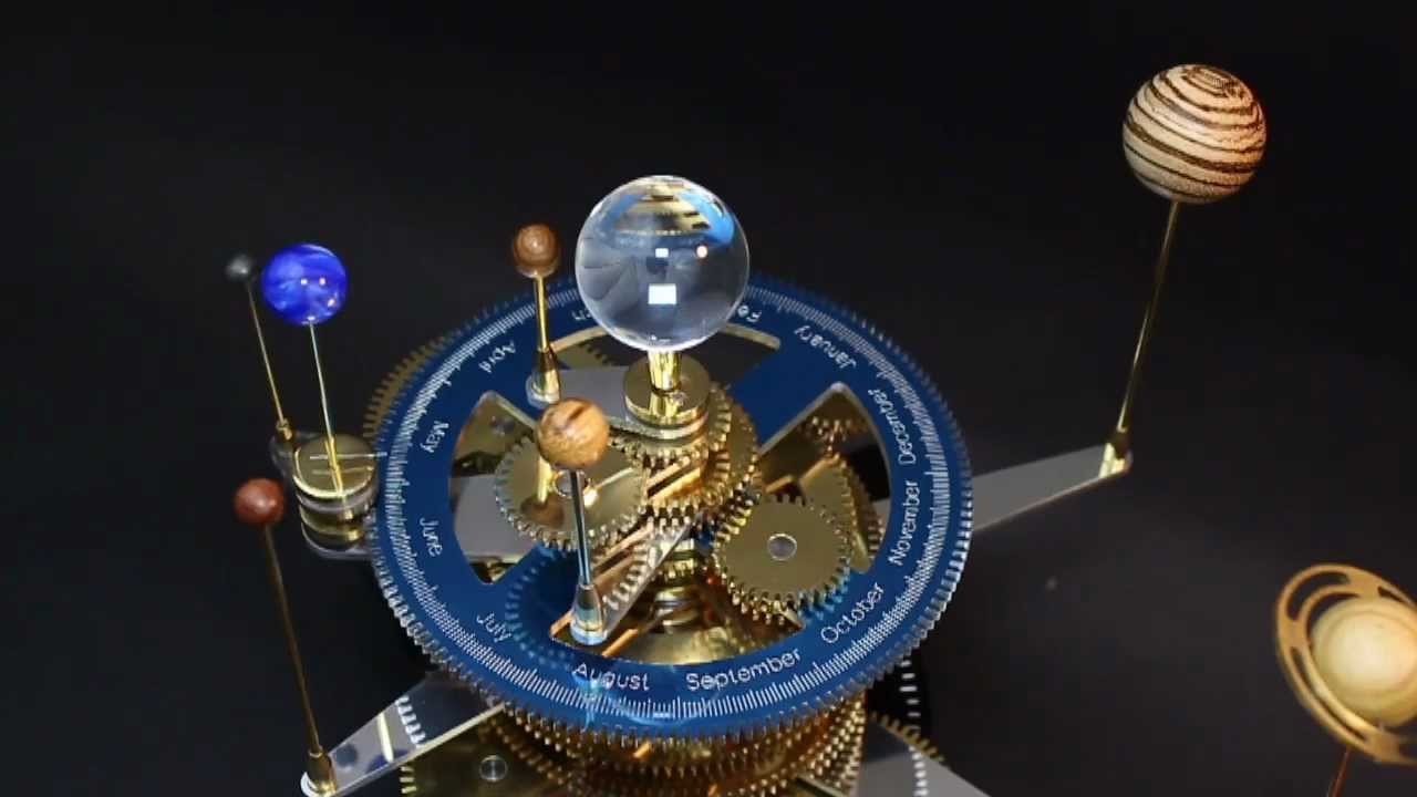 My Orrery - In Brass, Aluminum, Acrylic, Corian and Exotic ...