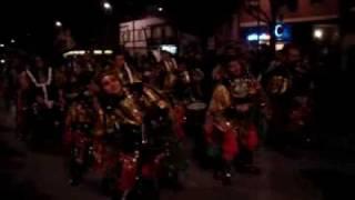 La comparsa Desertores en el desfile de la tamborada 2008