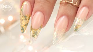 Easy Odorless Acrylic Inlay with Gold Foil and Glitter