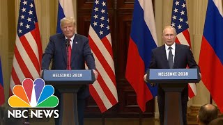 Vladimir Putin Believes The U.S.'s Russia Investigation Should Be Settled In Court | NBC News