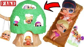 Slumber Party with LOL Surprise Treehouse for Lil Sisters Bunk Beds Video