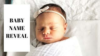 BABY NAME REVEAL | MEET MY BABY! *UNIQUE*