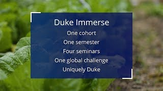 Duke Immerse: Imagining the Future of Food video