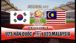 Trực Tiếp U23 Hàn Quốc (Korea) Vs U23 Malaysia | Tứ Kết VCK Châu Á 2018