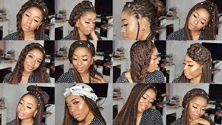 15 Ways To Style Box Braids Quick, Easy and Stylish 2017