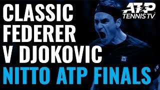 Classic Roger Federer Winners & Match Point vs Djokovic! | Nitto ATP Finals 2019