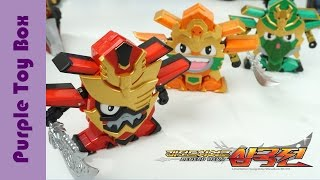 Legend Hero Samgukji Robot Toys 레전드 히어로 삼국전 변신 영웅패 관우 장비 하후돈 레전드 히어로 마제스티 장난감 夢想三國 玩具