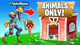 I Went UNDERCOVER in a ANIMALS ONLY Tournament! (Fortnite)