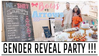 Gender Reveal Party! 2018 VLOG #1 (Bows or Arrows Themed Party)
