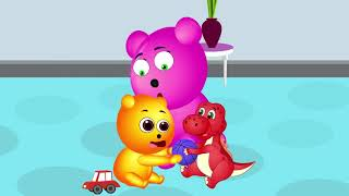 [Gummy] Gummy Bear and Dinos | Colors for Children Fun Play Color Balls Wooden Caterpillar Slider To