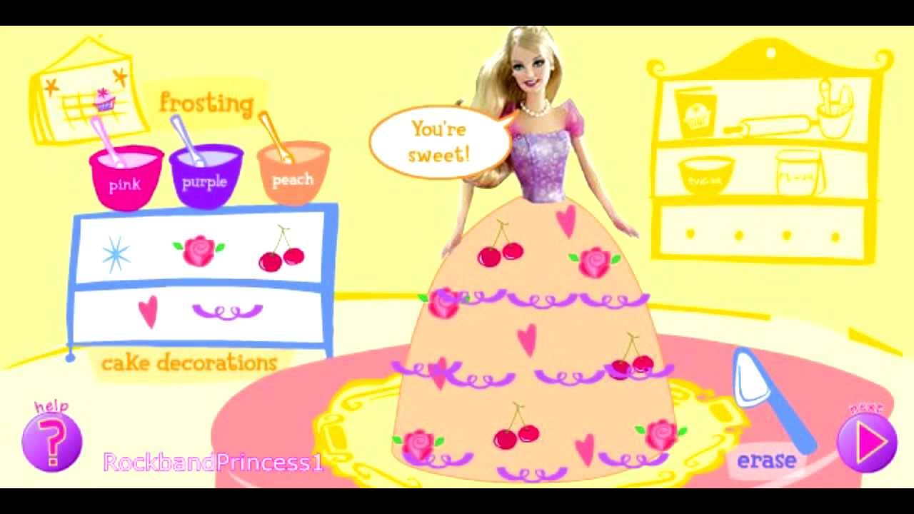 Barbie Games Cooking Games Cake