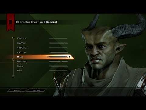 Dragon Age 3 Inquisition - Character Creation