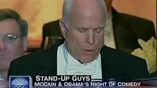 Obama and McCain Trade Jokes at Charity Dinner