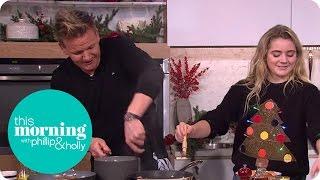 Gordon and Matilda Ramsay Cook a Christmas Breakfast | This Morning