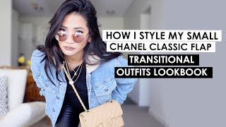 How to style a Chanel Classic Flap | Transitional Outfits Lookbook