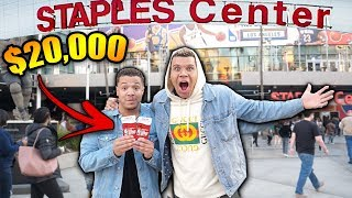 SURPRISING MY BEST FRIEND WITH $20,000 DREAM TICKETS!! *EMOTIONAL*