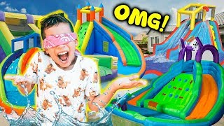 WE TURNED OUR BACKYARD INTO A REAL WATERPARK!! **BIRTHDAY SURPRISE** | The Royalty Family
