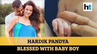 Watch: Wishes pour in as Hardik Pandya, Natasha welcome ba..