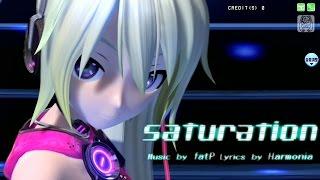 [60fps Full風] saturation - Hatsune Miku 初音ミク Project DIVA Arcade English lyrics Romaji subtitles
