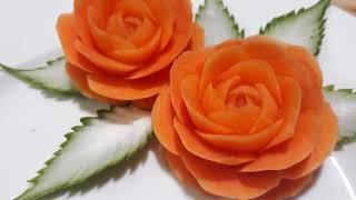 Học tỉa rau củ quả với Lê Khánh Carving - Tỉa cà rốt : Hoa hồng (***) | Carving Rose - Carrot