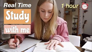Real Time Study with Me 👩🏼‍💻 STUDY MOTIVATION | 1 Hour of Productivity