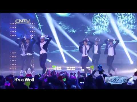 K POP EXO M   Growl + Wolf China LIVE 20140130