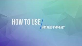 HOW TO USE RONALDO PROPERLY [PES 2017]